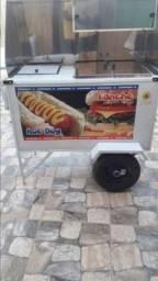 Título do anúncio: Carrinho de cachorro quente troco ne uma geladeira