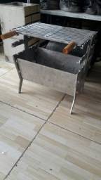 Churrasqueira desmontável em alumínio fundido.  Entrego em domicílio