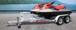 Carretinha EXCLUSIVA de Jet ski para 2 ou 3 lugares da BRAVOLLI