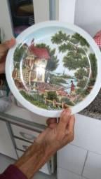 Prato porcelana pintado à mão