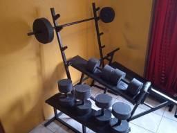 Título do anúncio: Estação de Musculação kit completo