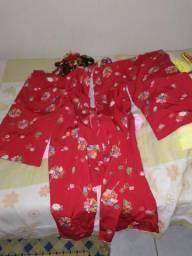 Kimono japones infantil feminino