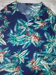 Blusa floridinha Azul
