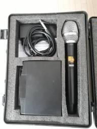 Microfone Sem fio digital vocal zero com 10 canais de frequência e display