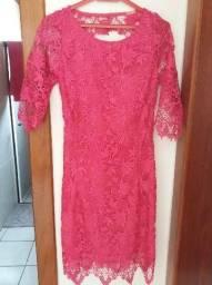 Vestido de renda pink