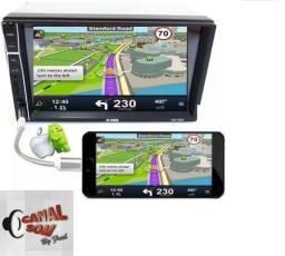 Central Multimídia Espelho Android e Ios! 399,99 À Vista ou 12x 40,00 Instalado Canal Som