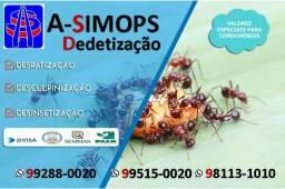 Serviços de Dedetização de empresa autorizada Dvisa 99288 0020