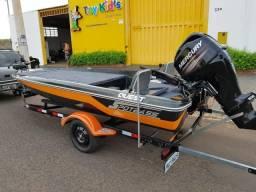Bass Boat spotbass quest com motor mercury ct 60 Hp 4 tempos - 2018
