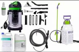 Kit completo para limpeza de estofados