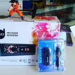 R$110,00 Radio usb Dazz automotivo + adaptador Bluetooth