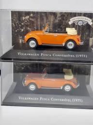 Miniatura Fusca conversível 1973 escala 1/43