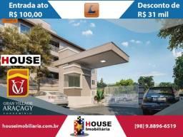 Village Araçagy 3 - Feirão Canopus ato R$ 100,00. Apartamento com suíte no Araçagy
