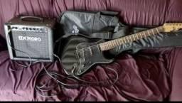 Kit guitarra e amplificado