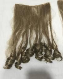 Dois Apliques tic tac loiro cabelo humano 54cm, usado comprar usado  Fortaleza