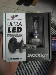 Kit Lampada Led Automotiva Ultra Led Shock Light Encaixe H11 comprar usado  São Paulo