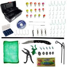 Kit de pesca completo c/ Vara Telescópica