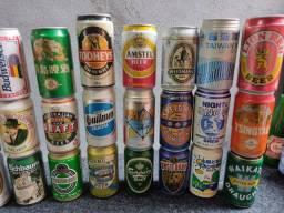27 latas antigas e raras cheias