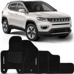 Tapete Personalizado Jeep Compass 2016 2017 2018 2019 2020 Preto 5 peças