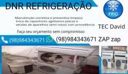Manutenção em geral limpeza preventiva corretiva troca de capacitores