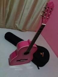 Violão rosa + Capa