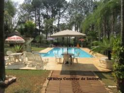 Chácara 5.200 m2 Píscina e Casa ampla Campo fut. área gourmet Ref. 490 Silva Corretor