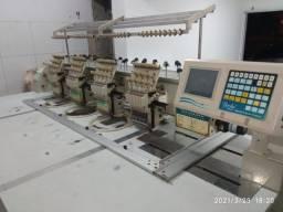 Máquina de bordar 4 cabeças industrial