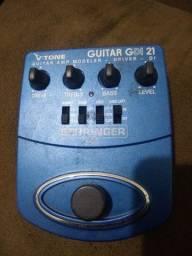 Título do anúncio: Pré ampli v tone guitar da Behringer e um pedal de distorção