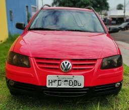 Vw / parati 1.6 vermelha 2008 / 2009 flex, completa l