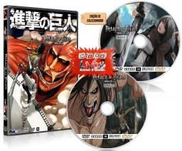 Box Dvd Ataque Dos Titans Dublado Shingeki Temp 1 2 3 Hd