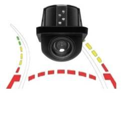 Câmera De Ré com Linha Dinâmica Tartaruga Visão Noturna Estacionamento