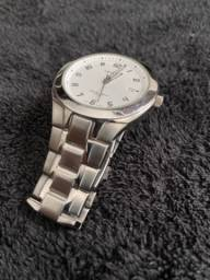 Relógio Orient Aço Inoxidável Fundo Branco Bateria Nova