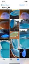 *piscina de fibra 6,00x3,00 Oval com a melhor oferta do mercado