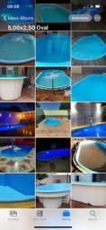 *piscina de fibra 5,00x2,50 na promoção