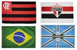 Título do anúncio: Bandeira Brasil Times Futebol  Clubes Nacionais Torcedor Dupla