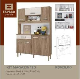 Título do anúncio: Armário de Cozinha Magazin120 #Entrega e Montagem Grátis