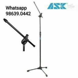 Pedestal de Microfone Profissional Ask (Novo, aceito cartão)
