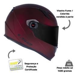 Capacete Ls2 Ff358 Fosco Capacete Moto 4 Estrelas Sharp<br><br>