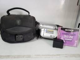 Filmadora Sony dcr-dvd92 grava direto em dvd e no escuro