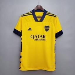 Título do anúncio: Camisa do Boca Jrs Amarela - Personalizo com o seu Nome e entrego em 24 Hrs