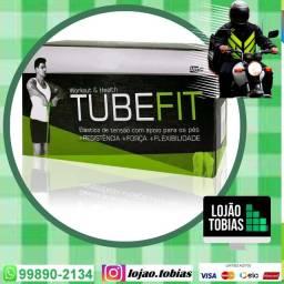 Extensor Elástico Exercício Treino Musculação Malhar Tubefit