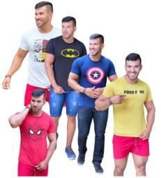 kit 10 camisetas masculinas atacado revenda varias estampas