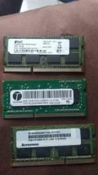 Título do anúncio: Memorias ddr2 de 1,2 GB e ddr3 de 2,4 GB.