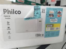 microondas philco 21litros novo