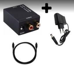 Conversor Óptico Digital P/ saída RCA + Cabo Óptico + Entrega Zona Sul e Centro