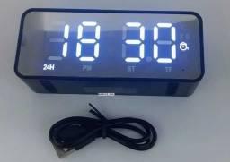 Título do anúncio: Rádio Relógio Bluetooth com Alto Falante
