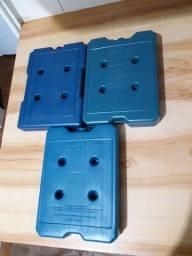 Título do anúncio: Lote com 3 placas de 1L de gelo reutilizável
