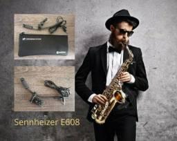 Microfone Profissional para Sax - Sopro Sennheiser E608
