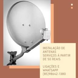 Título do anúncio: Antenas-Apontamento-Instalação de antenas-Venda de aparelho