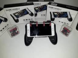 KIT Gamepad + Controle Joystick p/ celular Gatilho L1-R1
