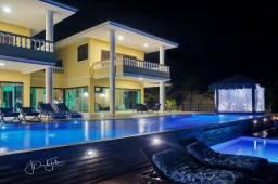 Exclusividade! Vila luxuosa com piscina na beira-mar de Barra do Cunhaú